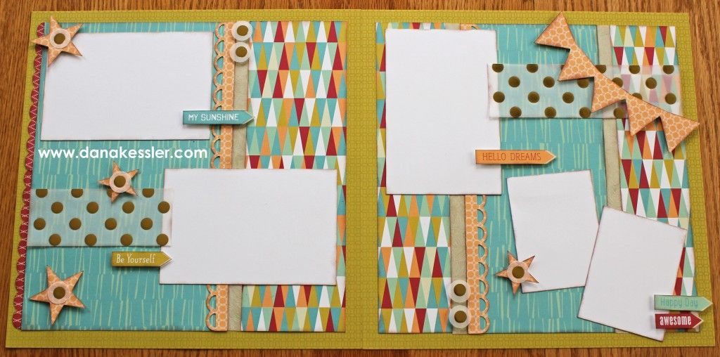Two page scrapbook layout free to be me summer fun CTMH