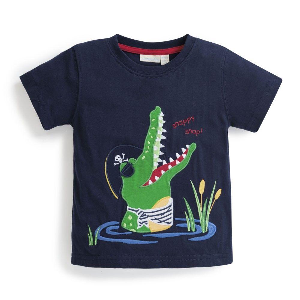 Boys\' Crocodile Applique T-Shirt | JoJo Maman Bebe | Barang untuk ...