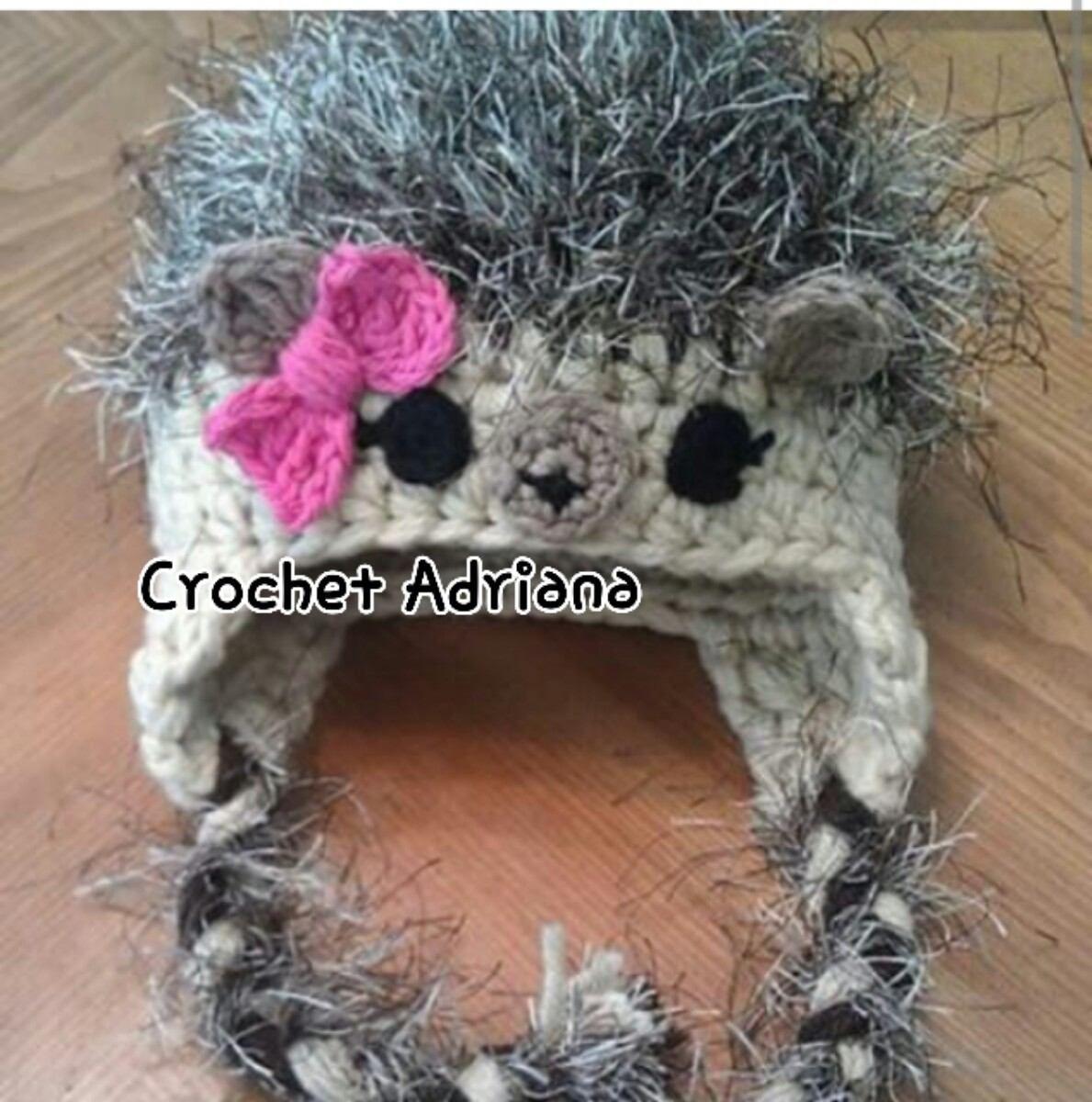 Lujo Monstruo Libre Patrón De Crochet Sombrero Componente - Manta de ...