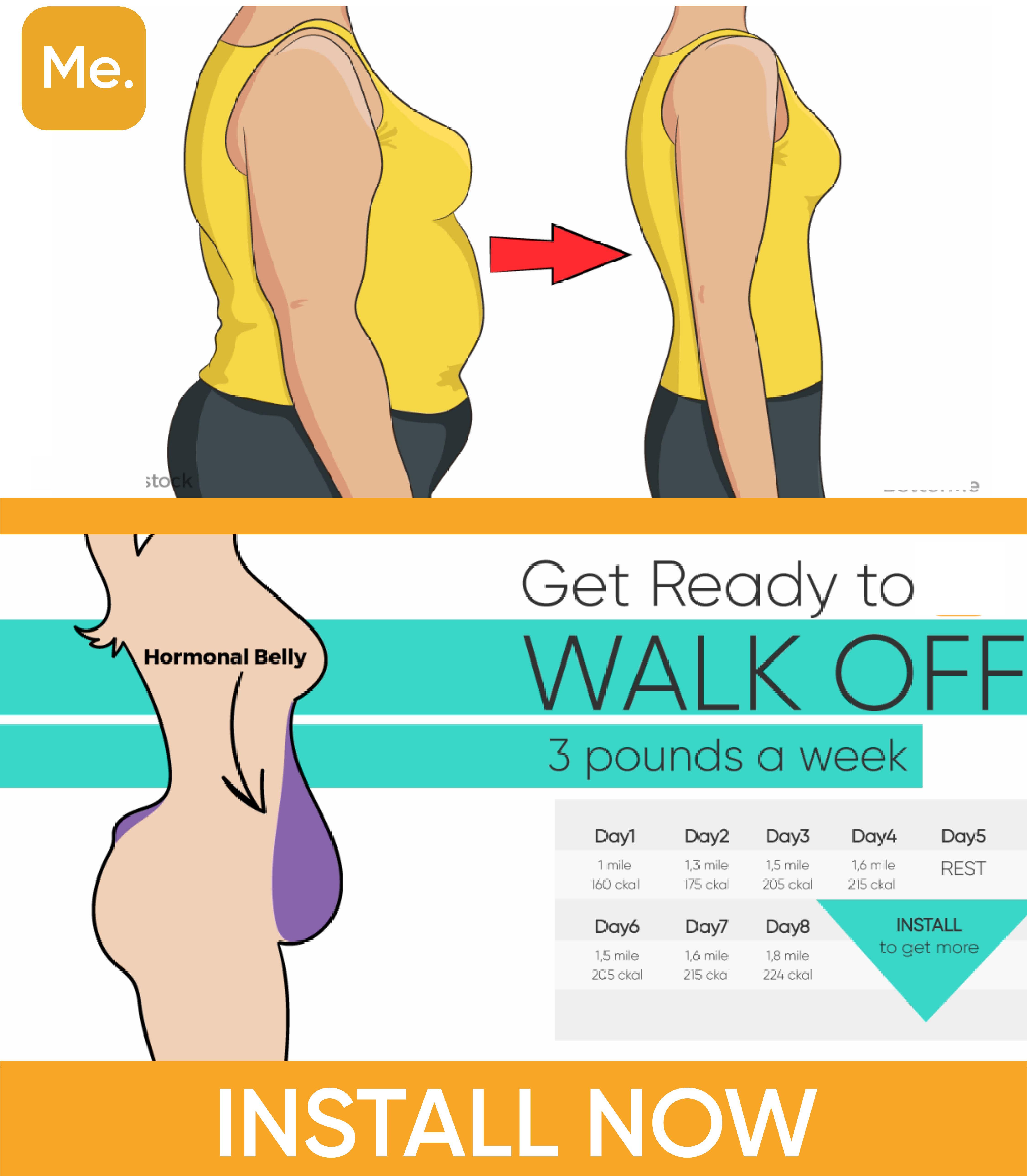 Lose 11 Pounds a Week with Walking Plan  Walking plan, Belly