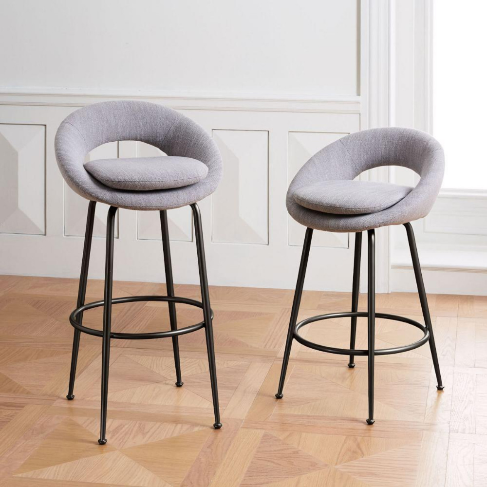 Orb Upholstered Bar Counter Stools Cerca Con Google