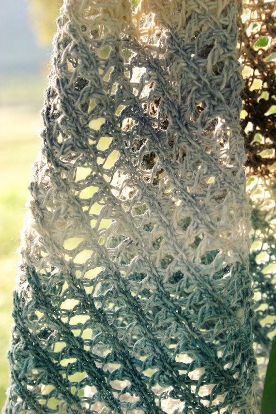 Crochet Pattern, Lace Scarf Pattern- Tunisian Crochet Pattern ...