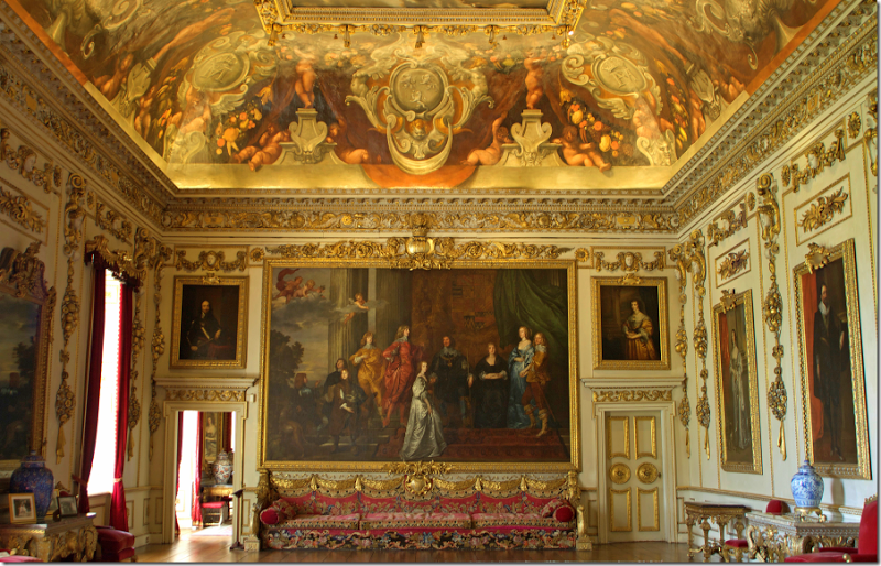 Largest Van Dyke painting in existence, flanked by 2 smaller Van Dykes. Main State Room