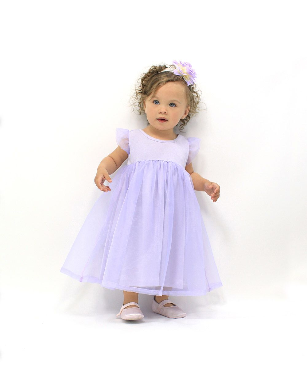 Girls wedding dress  Baby Girl Easter Dress Violet Organza Chiffon Baby Girl Wedding