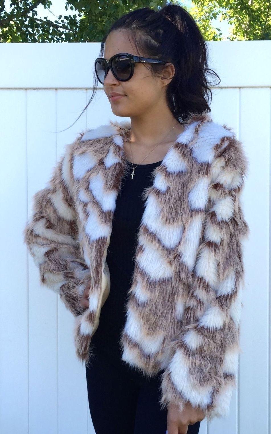 $60 NWT DECREE Authentic Women's Fashion Faux Fur Animal Print Jacket Coat Sz.L https://t.co/UxJNg0cSj3 https://t.co/RSSRuCdQoc