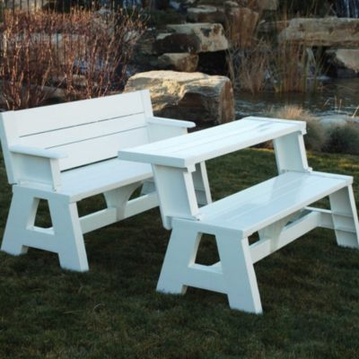 Make A Maintenance Free Park Bench That Converts To A