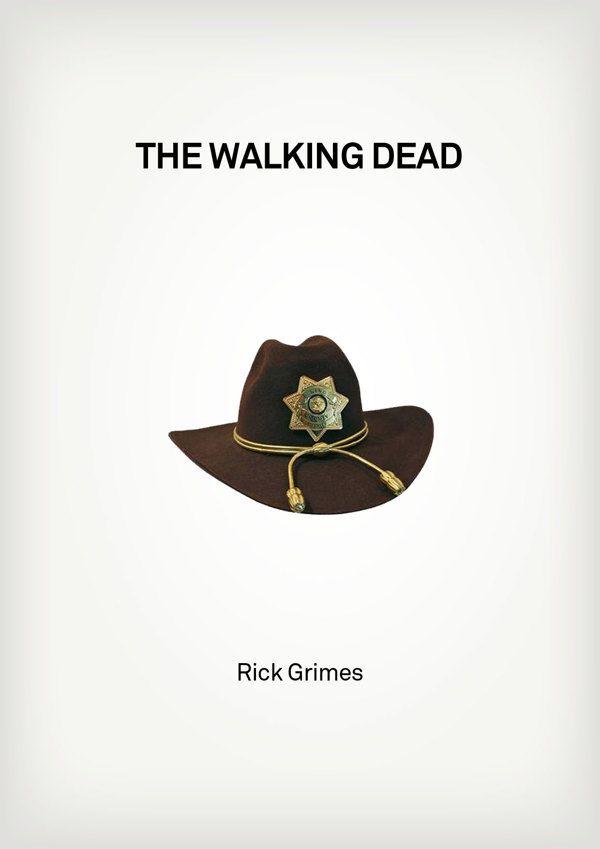 e463c32a5b2 The Walking Dead (2010–) ~ Minimal TV Series Poster by Besim Hakramaj ~  Famous Hats from TV Shows  amusementphile