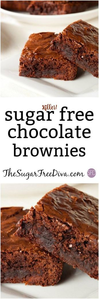 This is the recipe for the best (Killer...) Sugar Free Chocolate Brownies #sugarfree
