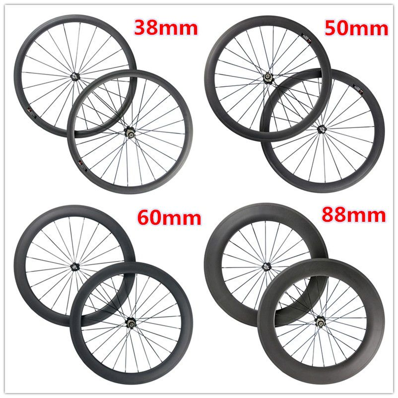 700c Road Bicycle Carbon Wheels 50mm Depth 25mm Width Carbon Clincher Wheelset Hand Build With Powerway R36 Hub Road Bicycle Bikes Road Bike Wheels Bike Wheel