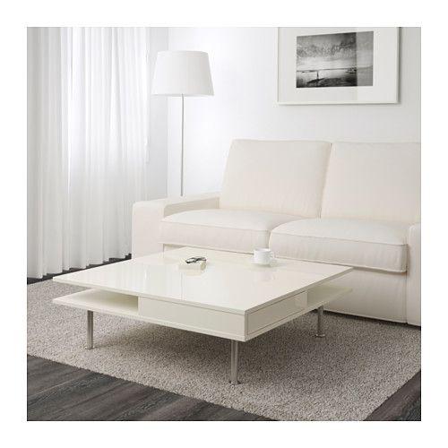 tofteryd coffee table high-gloss white 95x95 cm | high gloss, Modern Dekoo