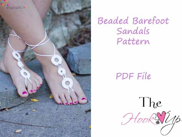 Beaded Barefoot Sandals Crochet Pattern Permission To Sell