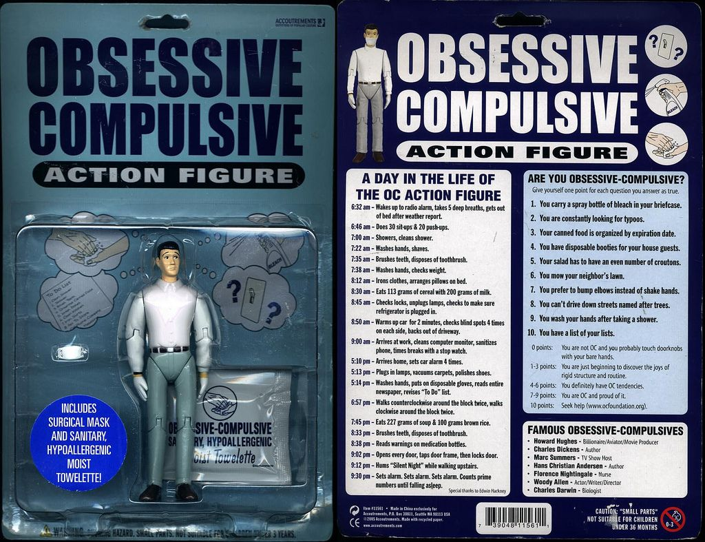 Image result for Obsessive Compulsive Action Figure
