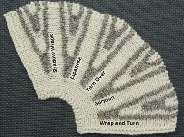 Knitting Wrap And Turn Tutorial : Knitting double short rows with links to tutorials for each