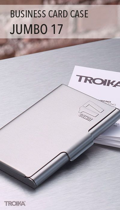 Troika Jumbo 17 Business Card Case Embossed Jumbo17 On