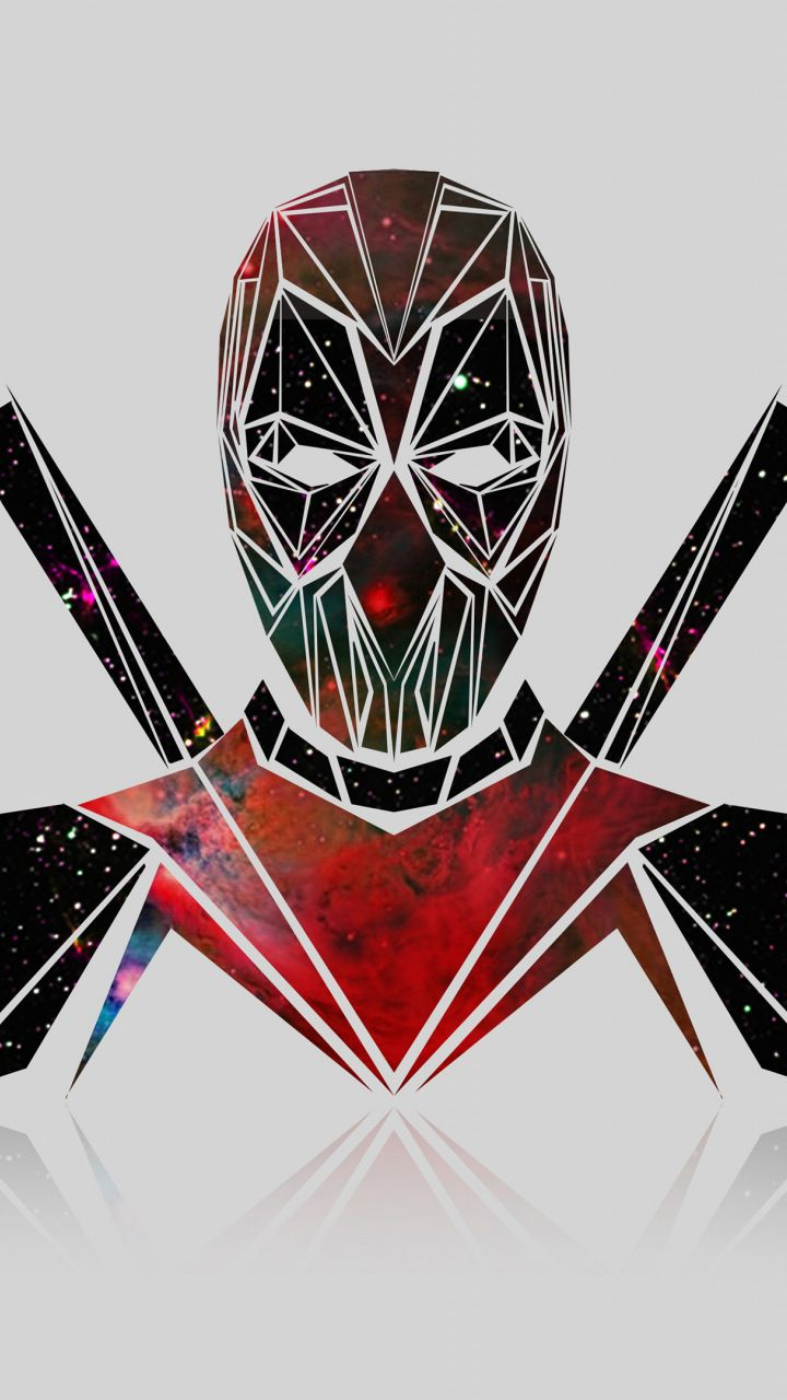 Deadpool, galaxy, artwork, minimal, 720x1280 wallpaper
