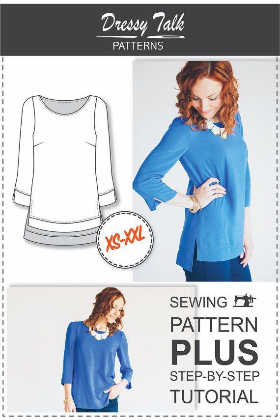 Blouse Patterns - Sewing Patterns - Clothing Patterns - Sewing ...