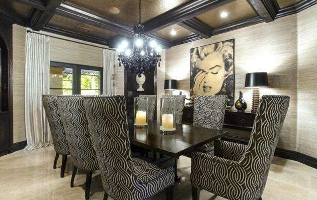 khloe kardashian dining room | Inside Khloe Kardashian's Los Angeles Estate | Dining ...