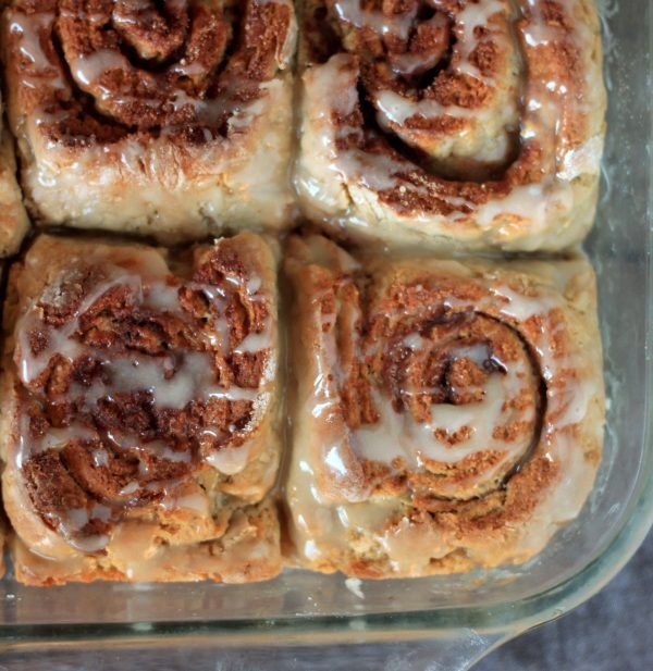 These soft and buttery gluten free cinnamon rolls are the perfect winter treat (and did I mention that they're super easy to make?)!