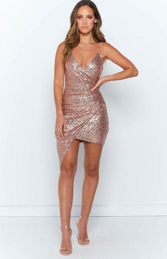 Alle Kleid Rose Gold Beginning Boutique Gold Dress Outfits Gold Dress Short Gold Party Dress