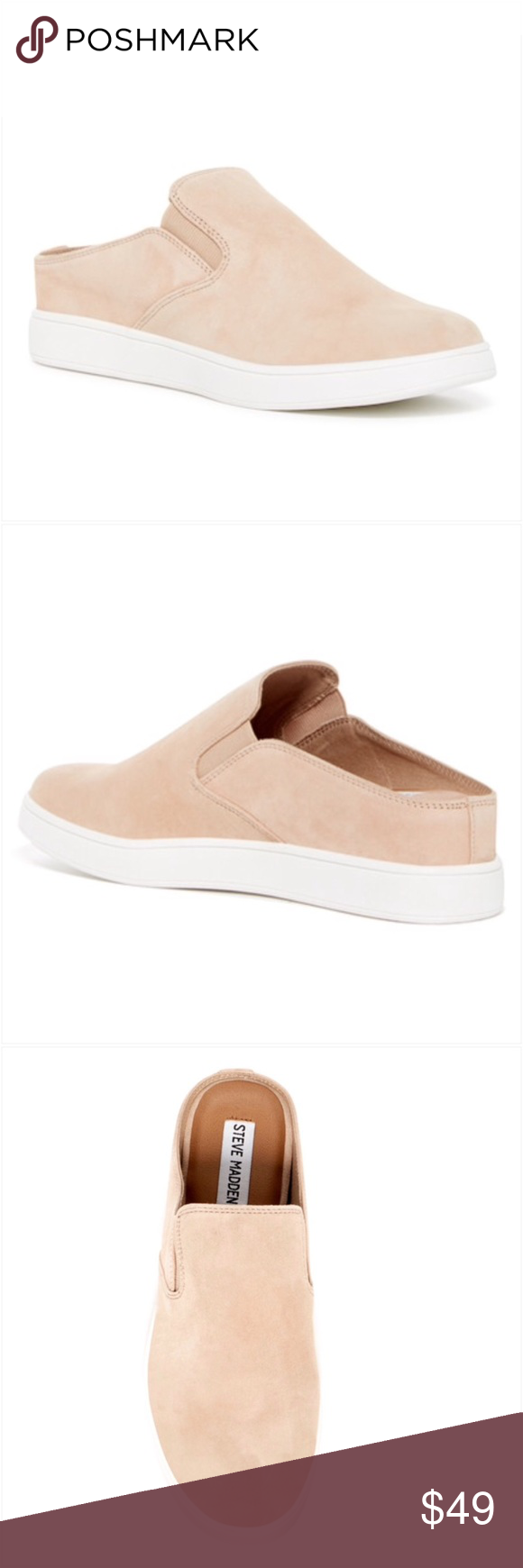 46968880dc7 Steve Madden Ezekiel Suede Cream Slip On Sneaker Sizes available are 12M  and 13M. New with box. I have these in navy and they are fabulous.