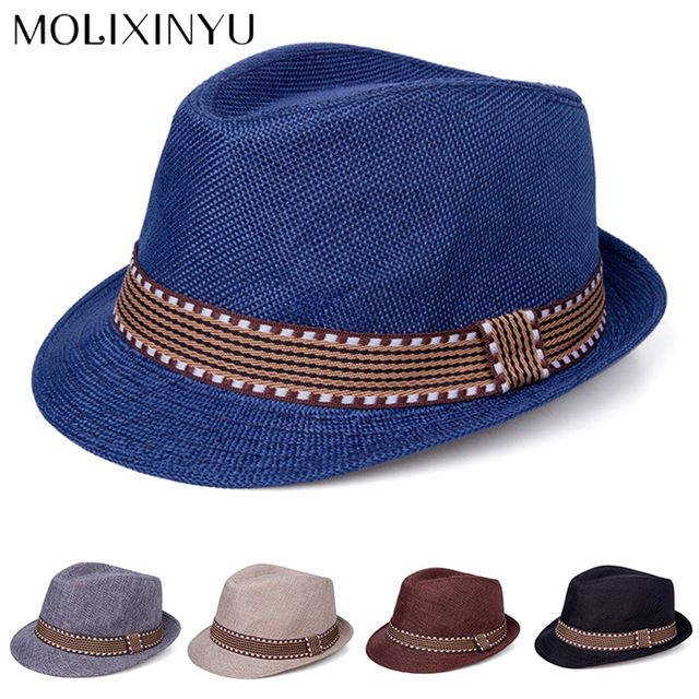 71f72fa187b MOLIXINYU Fashion Summer Baby Straw Hat Baby Girls Beach Cap Baby Sun Hat  For Girls Boys Kids Summer Cap Bucket ...