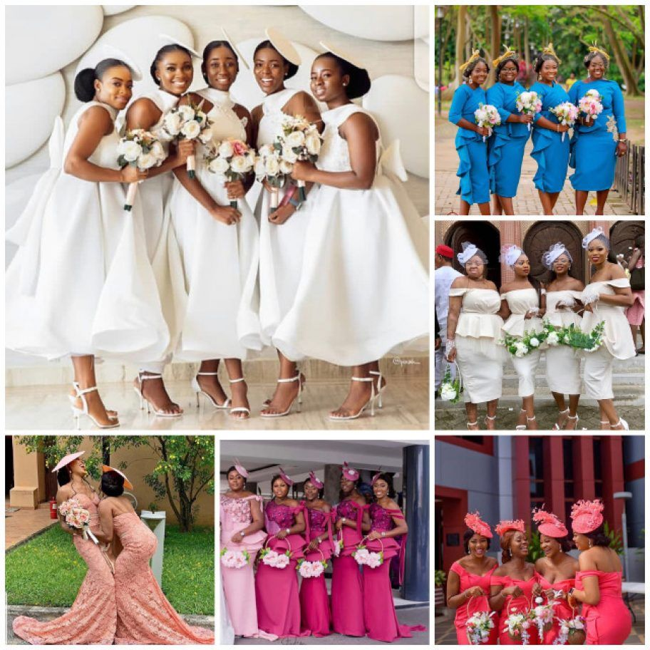 Latest 2019 Bridal Train Styles In African And Nigerian Wedding Events African Bridesmaid Dresses Nigerian Bridesmaid Dresses African Bridesmaids