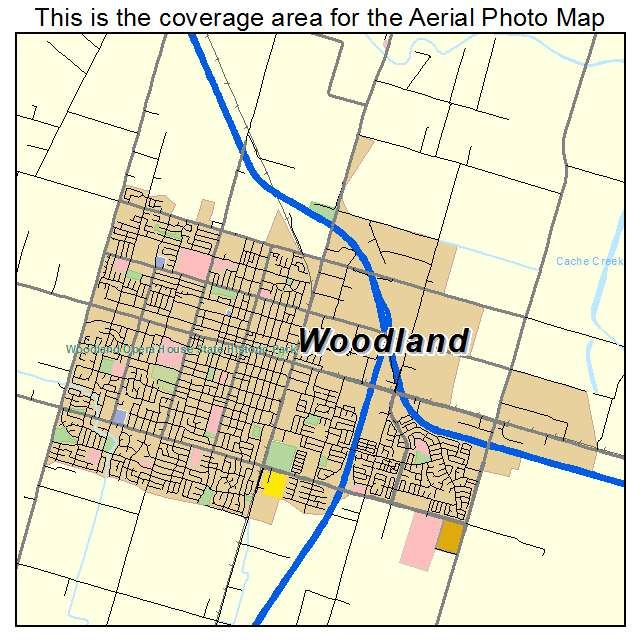 Aerial Photography Map Of Woodland Ca California Woodland California Woodland Ca Aerial Photography