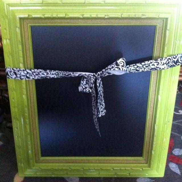 Diy Chalkboard Frame Chalkboard Crafts Diy Chalkboard Frame