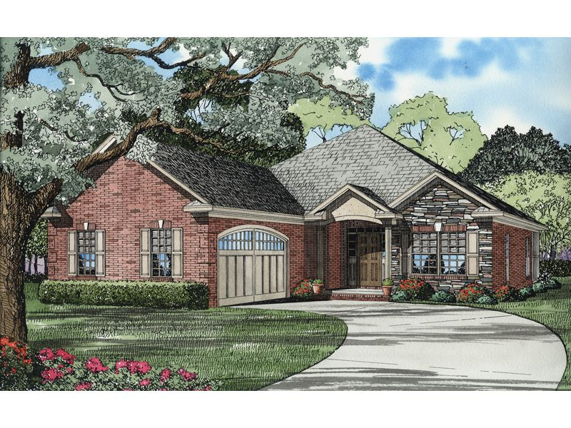 Exceptional Front Garage House Plans #6: This Traditional Design Floor Plan Is 1806 Sq Ft And Has 3 Bedrooms And Has  Bathrooms.