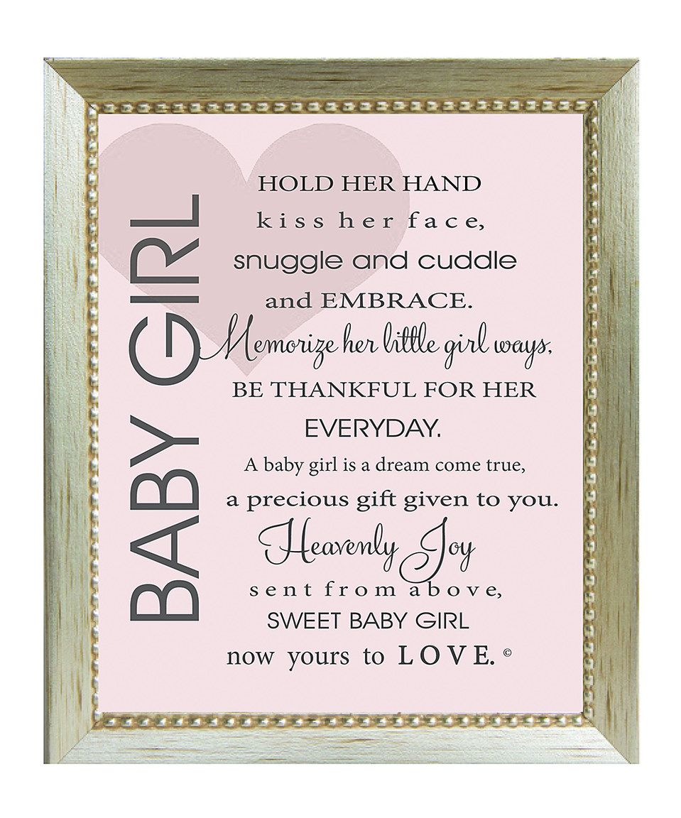 U0027Baby Girlu0027 Poem Framed Print