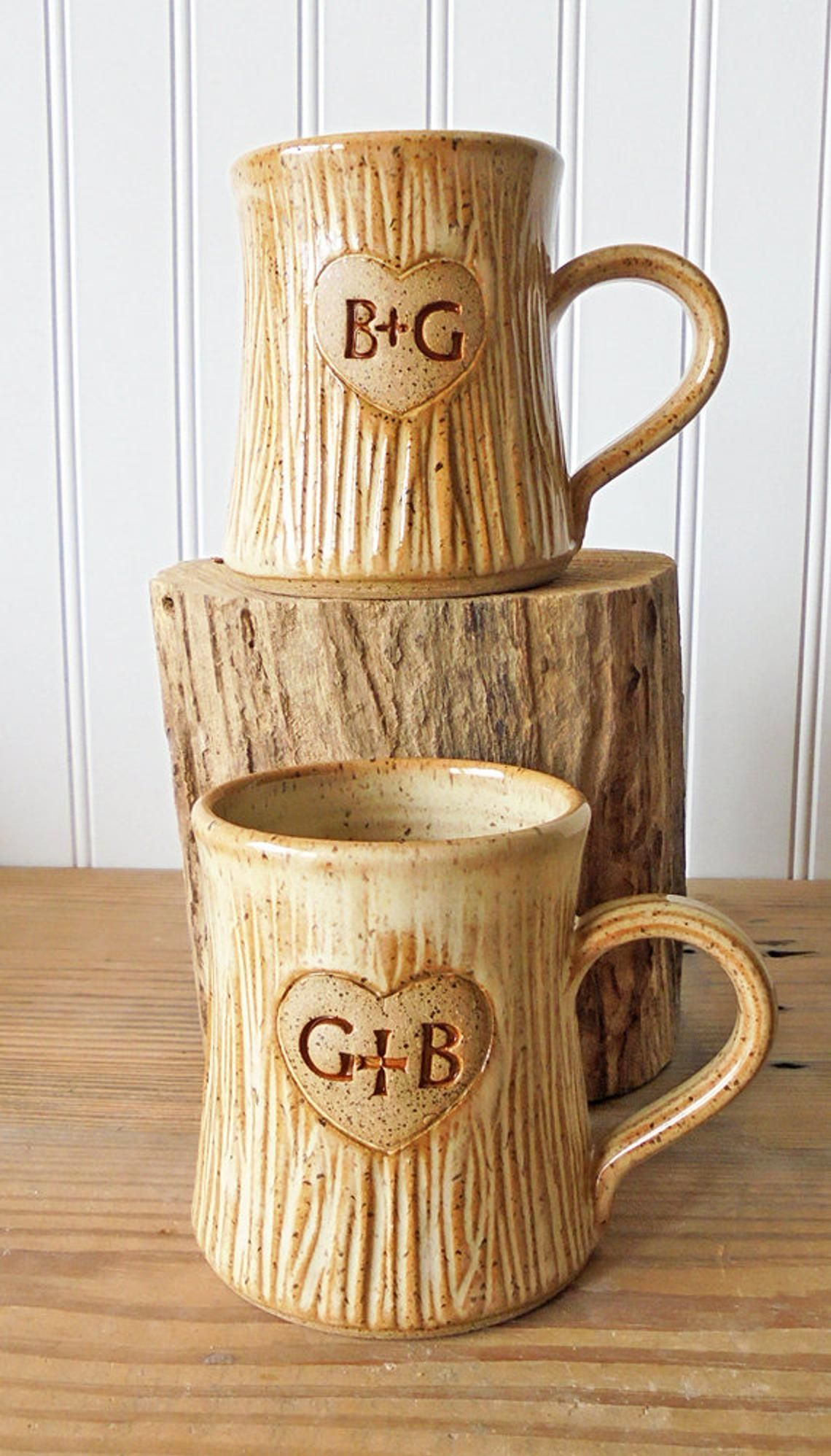 Personalized couple mugs his and hers hers and hers