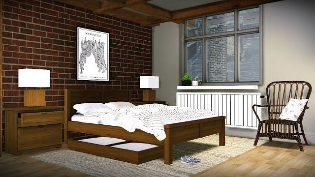 Sims 4 CC's The Best Brittany Bedroom Set by MXIMS