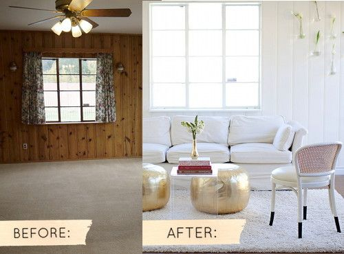 Painted Paneling Before And After Pictures My Web Value Paneling Makeover Home Wall Paneling Makeover