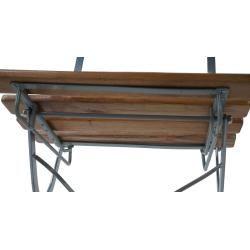 Photo of 2x beer garden chair Berlin, folding chair garden chair, acacia lacquered 'natural MendlerMendler