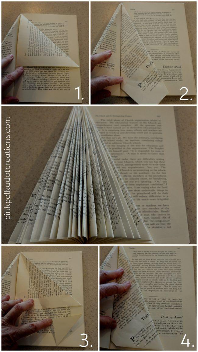 DIY Christmas Book Angels #bookspapersandthings