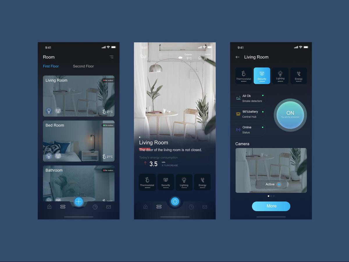 Smart Home App 01 In 2020 Smart Home Design App Design Layout Smart Home