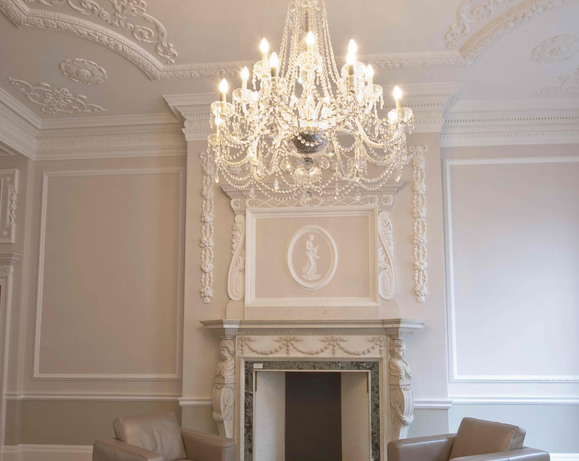 better ceiling decoration with molding georgian | Georgian interiors Central London | Georgian interiors ...