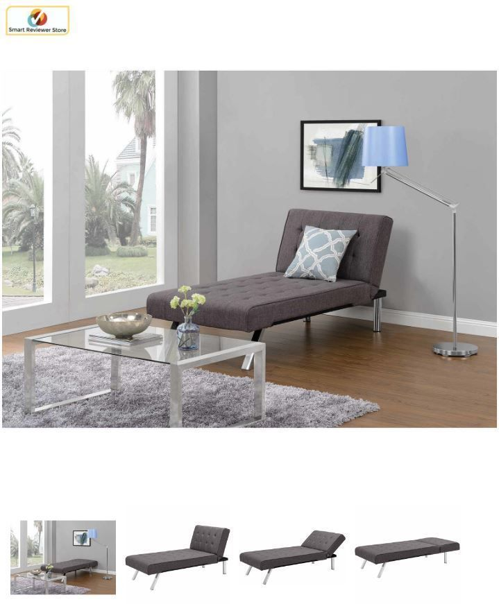 Convertible Sectional Futon Chaise Lounger Sleeper Living Room