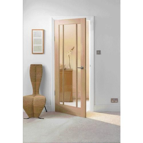 wickes york fully glazed oak 3 panel internal door. Black Bedroom Furniture Sets. Home Design Ideas