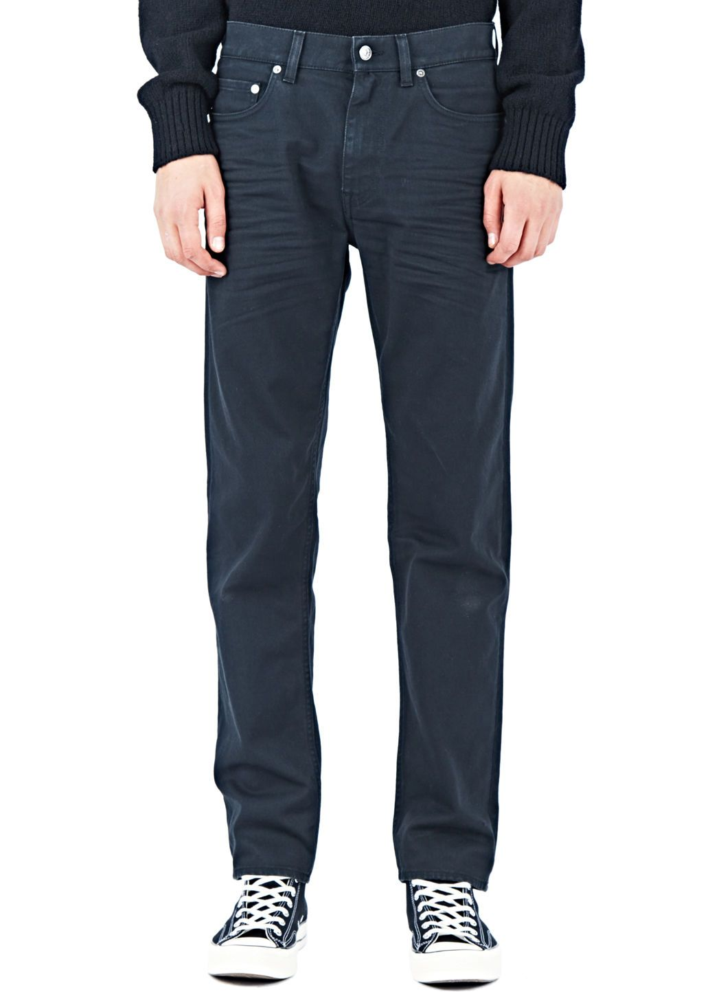 ACNE STUDIOS Acne Studios Men'S Ash Antrosit Jeans From Aw15 In Black. #acnestudios #cloth #