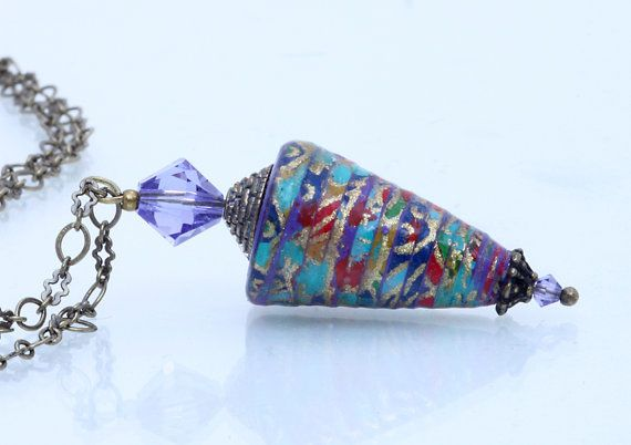 Paper Jewelry Recycled Paper Pendant ♥ by KiahDesign on Etsy, $40.00
