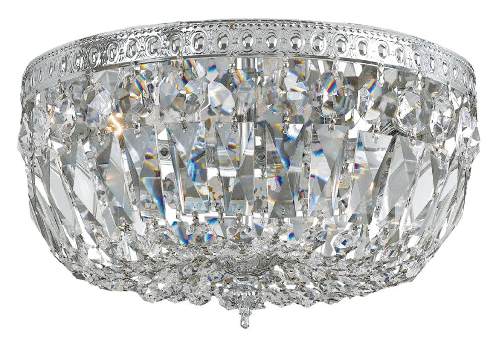 Dundee 4 Light Semi Flush Mount Crystals Ceiling Fixtures Polished Chrome