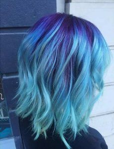 25 Amazing Blue And Purple Hair Looks With Images Light Blue