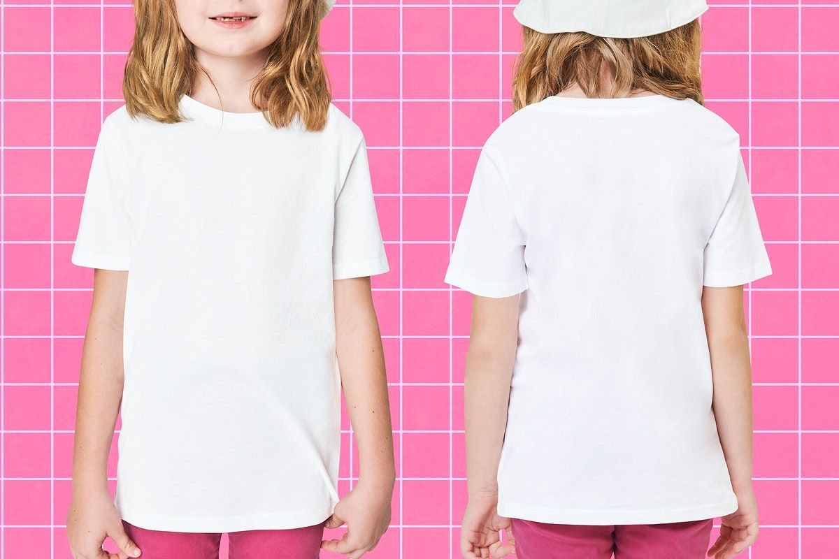 Download Download Premium Illustration Of Girl In White Tee Psd Mockup 2674748 Clothing Mockup White Tees Fashion
