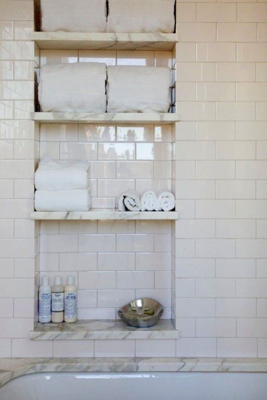 10 Unusual Beautiful Details To Steal For Your New Bathroom Shower Niche Bathroom Inspiration Bathrooms Remodel