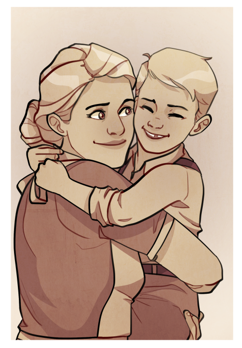 [Image: Sarah and Steve Rogers hugging.]kelslk:part two of the rogers family photo album
