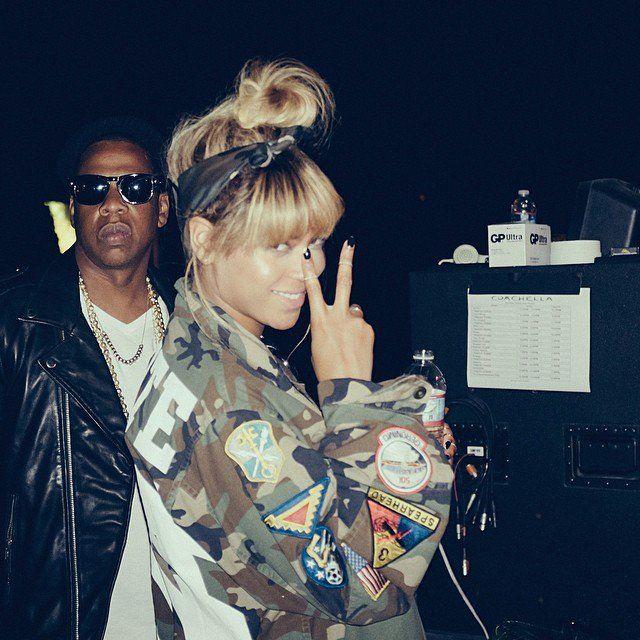 Pin for Later: Die Stars hinter den Kulissen beim Coachella-Festival  Beyoncé und Jay Z waren das coolste Paar bei Coachella. Source: Instagram user beyonce