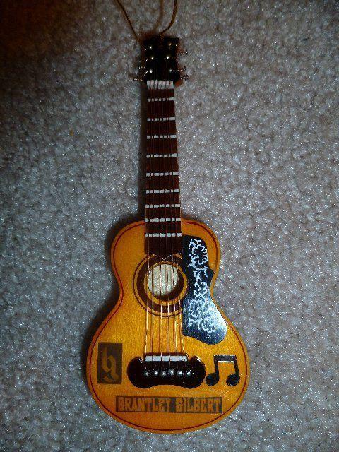Brantley Gilbert Custom Acoustic Guitar Christmas Ornament Rare Custom Acoustic Guitars Guitar Brantley Gilbert