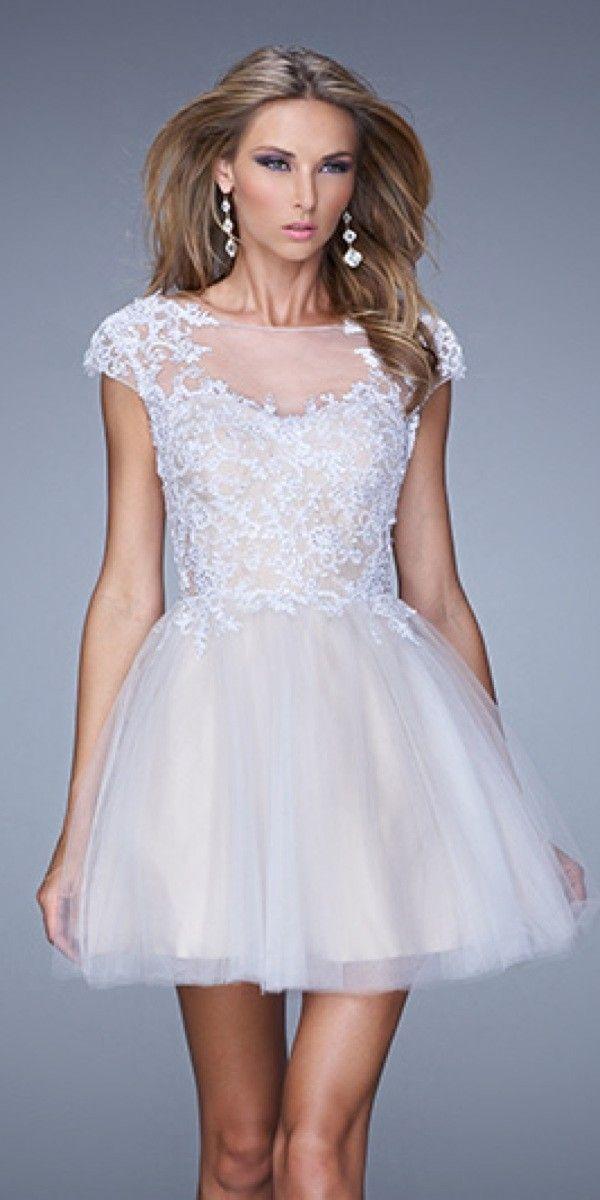 High Neck Short Prom Dress by La Femme