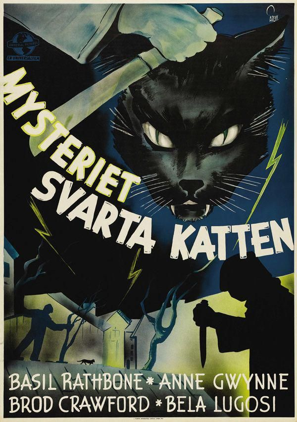 Hill Illustration On Cat Movie Horror Movie Posters Vintage Posters